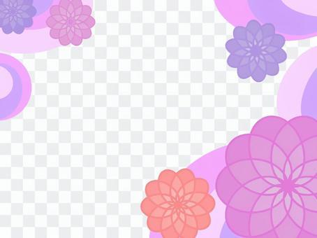 花卉設計框架