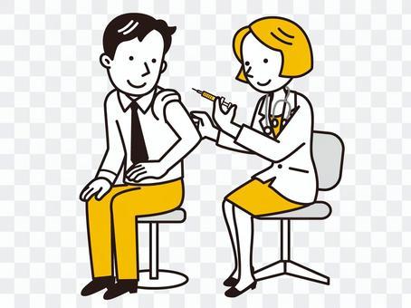 給注射的女性醫生