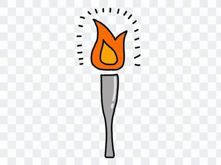 簡單的火炬火炬火焰