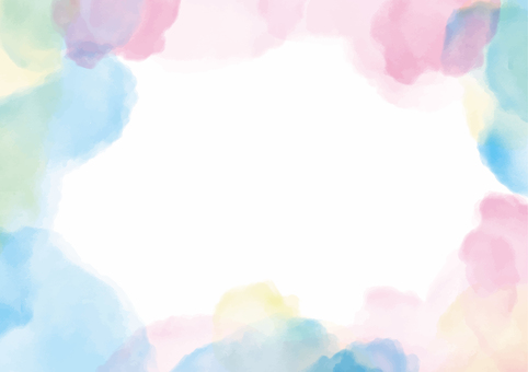 Pastel watercolor background material
