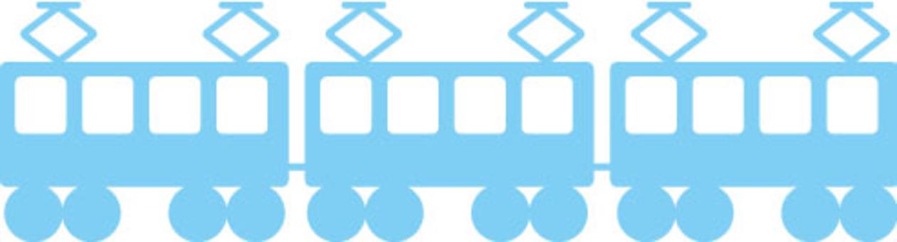 火车淡蓝色