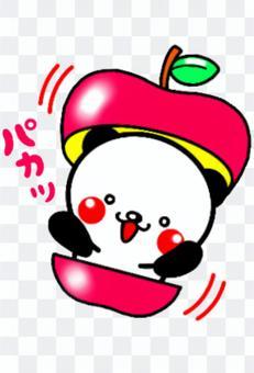 熊貓從蘋果中冒出來♬