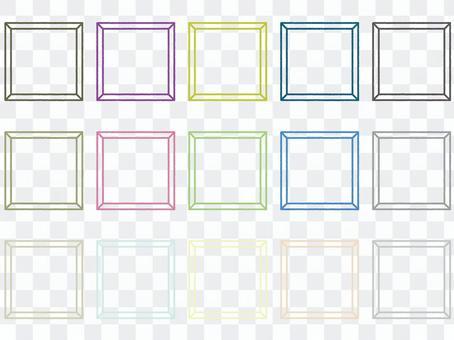 簡單的方形框架