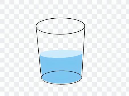 杯子和一半的水圖