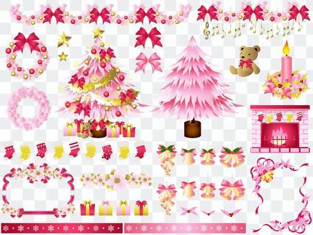 聖誕節設置(粉紅色)