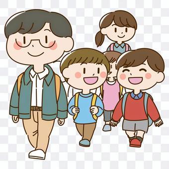 上課外活動的兒童插圖(課外活動)