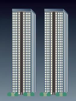 Skyscraper / Twin (Night view)