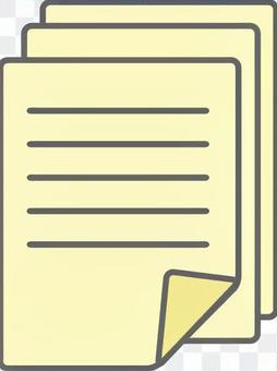 Overlapping documents pale yellow