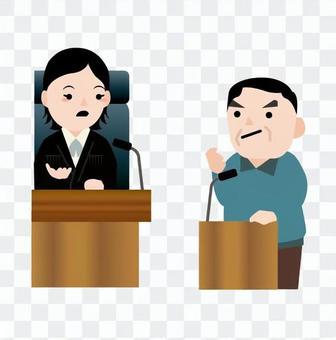 一個人的證人席上指控一名女法官