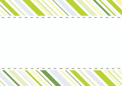 ステッチフレーム グリーンストライプ背景