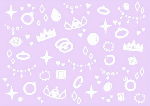 宝石模様の背景 パープル