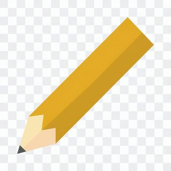 Yellow pencil icon illustration