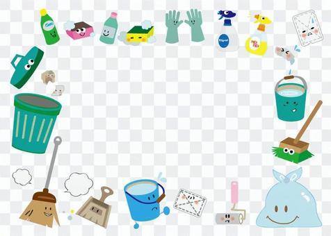 可愛的清潔工具架