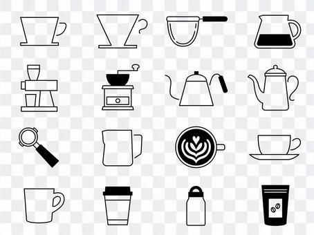 咖啡用具icon_painted