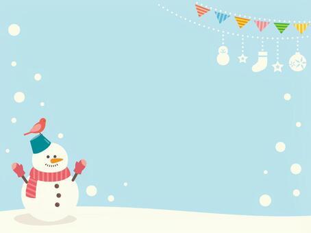 雪人的插圖