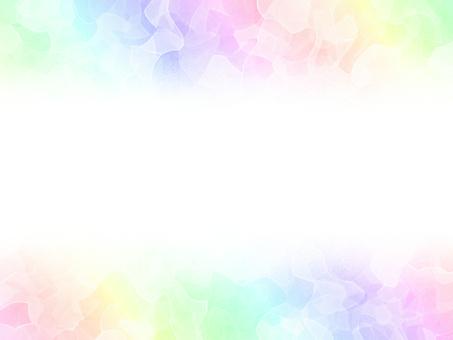 彩虹框架卡多彩粉彩