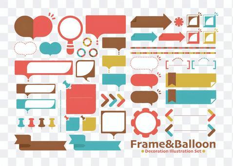 Frame & balloon SET