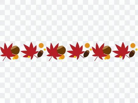 秋の植物のかわいいフレーム