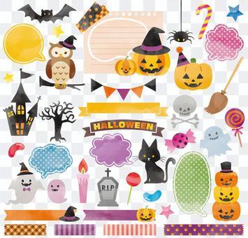 Halloween frame set 02