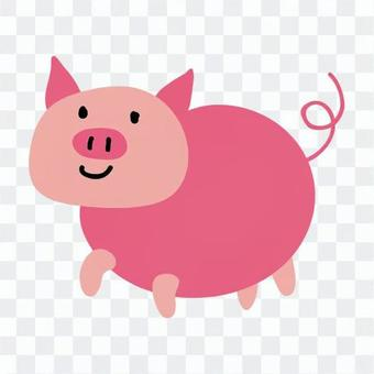 Rounded pig