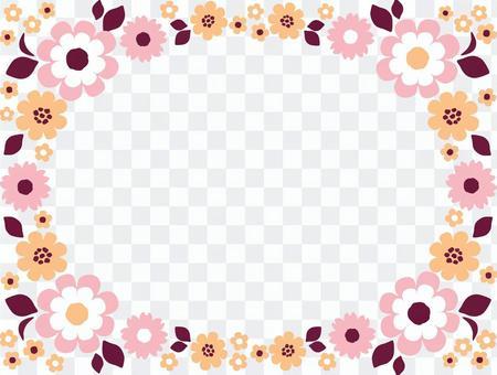 花のフレームピンク