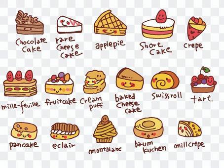 【甜點】糕點·蛋糕【手寫】