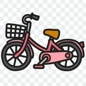 復古自行車(顏色:粉紅色)