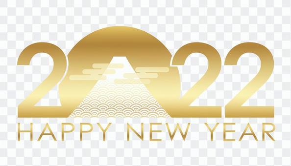 New Year's card material Mt. Fuji 2022 logo