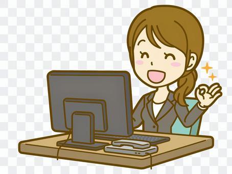 女(辦公室工作人員):C_ PC 03BS