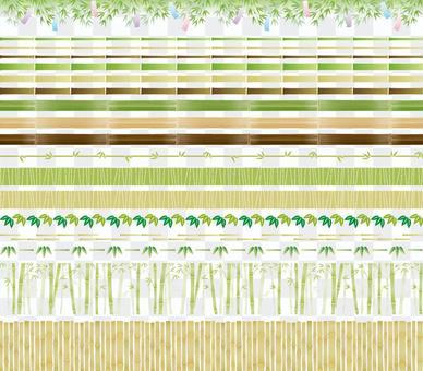 竹和竹裝飾統治集