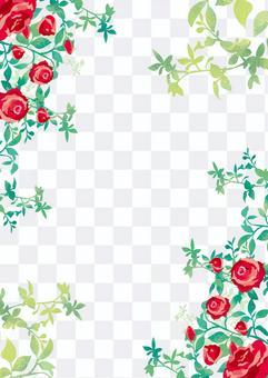 水彩玫瑰背景素材