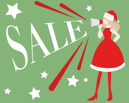 Santa girl singing a sale