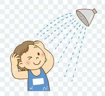Girls shower