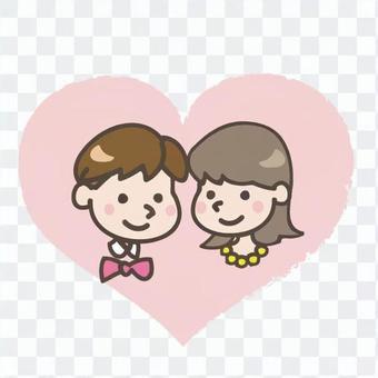 新娘和新郎的心