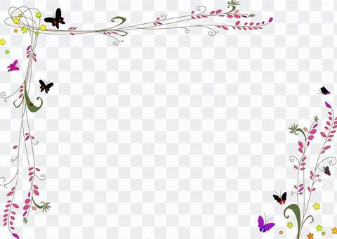 花和昆蟲框架3