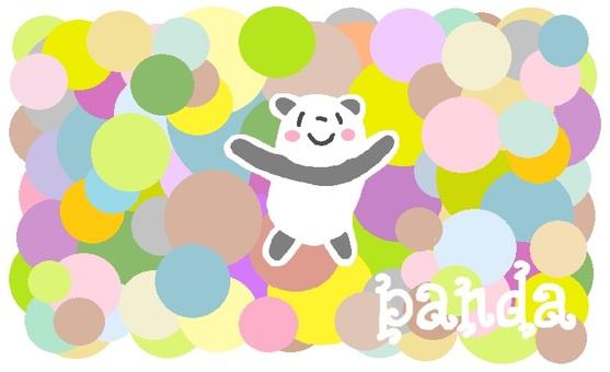 """Panda """"Maru pattern"""""""