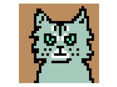 Pixel art of cat 1