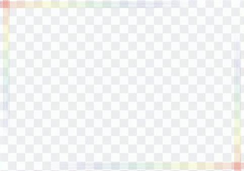"""框架""""簡單的虹彩線""""-2"""