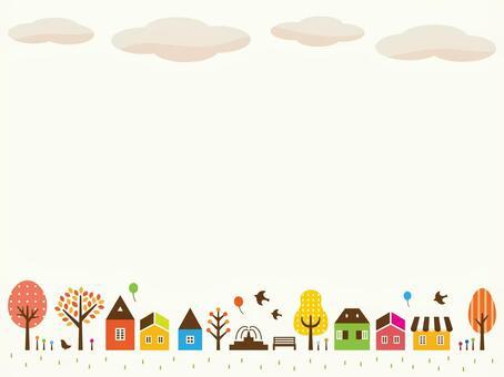 Autumn town illustration (2)