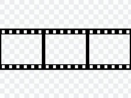 Negative film horizontal 3 frames