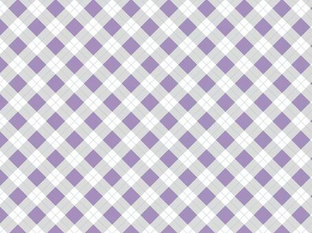 Tartan check ● Purple × gray