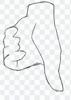 手描きハンドサイン(bad)