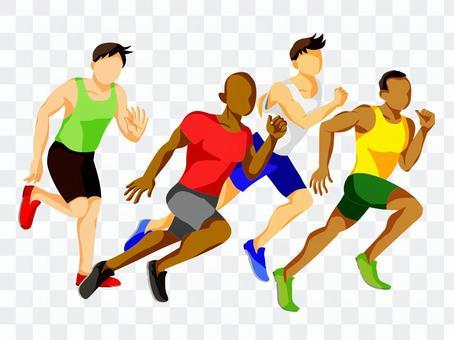 運動員參加田徑比賽
