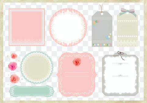 Girly material 029 label set