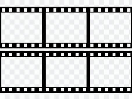 Negative film horizontal 6 frames