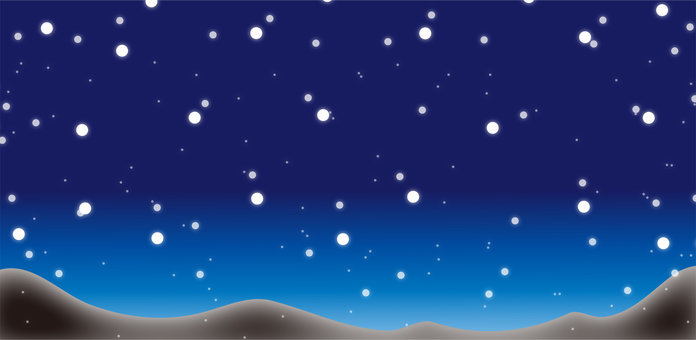 Scenery of the night sky where it snows Part 3