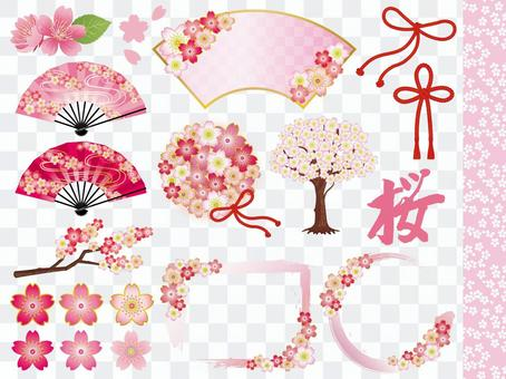 봄 和桜 소재 정리 세트
