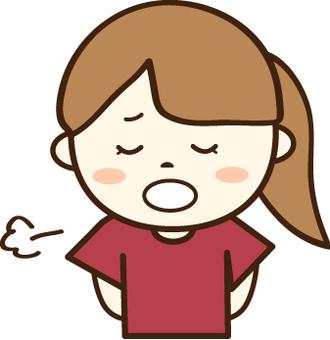 紅色的T卹女孩(困難的臉4)