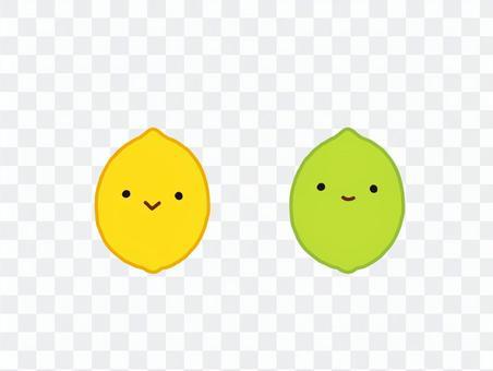 笑顔のレモン