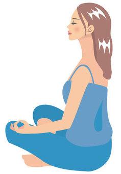 瑜伽的女人